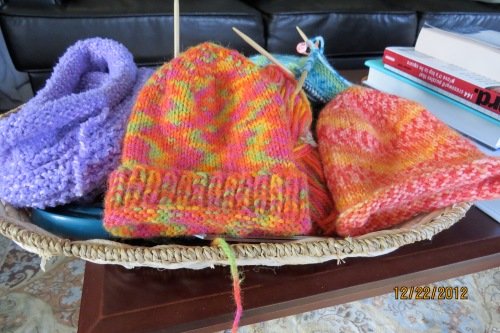 Knitted hats for baby-Our daughter has been getting prepared.