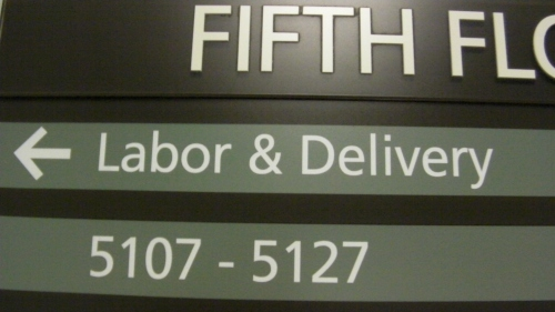 """Labor and Delivery""We are on the right floor."