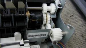 Gears in printer