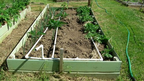 Need to get over a raised bed?  With the slip-on connections, it's much easier.