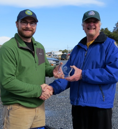 April 25, 2014...Nick Morris, Stewardship Forester with Oregon Department of Forestry, presents