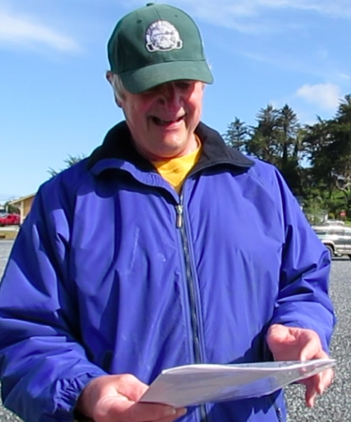 Harv Schubothe reads the Proclamation, proclaiming April 25, 2014 to be Arbor Day