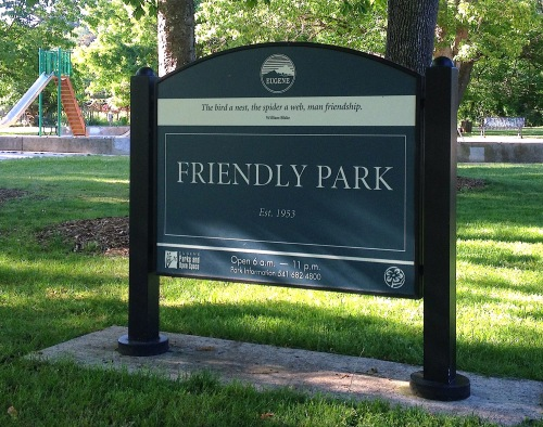 Where does the Friendly Street go?  To the Friendly Park, of course.