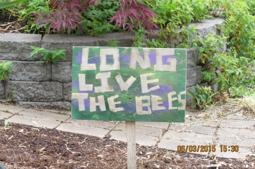 Long Live the Bees! My daughter sent me this photo as seen on one of her walks in the