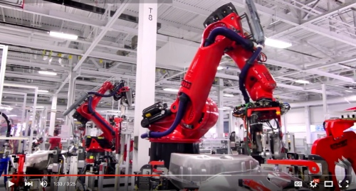 Robots building Teslas copy