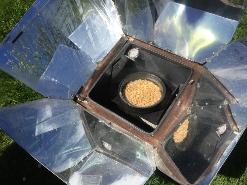 5738 Solar oven, beans done, 6-18-17